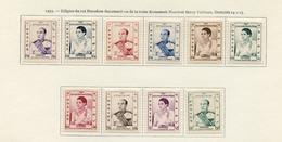 Cambodge - Kambodscha - Cambodia 1955 Y&T N°42 à 51 - Michel N°51 à 60 * - Royauté - Cambodia