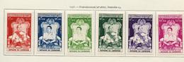 Cambodge - Kambodscha - Cambodia 1956 Y&T N°57 à 62 - Michel N°66 à 71 * - Couronnement - Cambodia