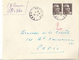 Gandon   715 X 2    -    Alençon 16.7.45  Recommandé Provisoire - 1921-1960: Modern Period