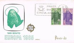 [C0569] España 1965, FDC Serie Europa (NS) - FDC