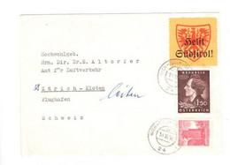 Brief 1960, Stempel Wien-Tulln-St.Pölten, Zürich Eilzustellung - 1945-60 Cartas