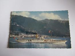 Suisse Lac Leman Le Bateau Salon ' Simplon ) Devant Montreux ( écrite ) Edition Jaeger  Dim 9x14 - Other