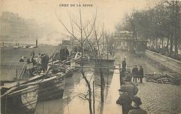 75 PARIS -  INONDATIONS - Les Quais - Überschwemmung 1910