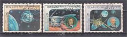 Laos 1984 Satellite Space Exploration  Yvert LA 590 594 595 Luna 1 Lunokhod 2 Jules Verne 13 Cosmos Astronomy Astronomie - Laos