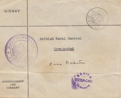Ned. Antillen 1944: Government Curacao/Aruba To Oranjestad - Curaçao, Nederlandse Antillen, Aruba