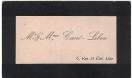 Mr & Mme CARRE-LEBON 6 RUE ST ELOI LILLE - Cartoncini Da Visita