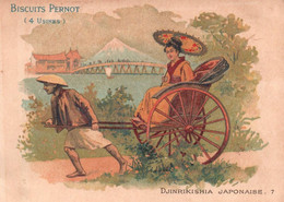 CHROMOS BISCUITS PERNOT - MOYEN DE TRANSPORT -DJINRIKISHIA JAPONAISE - Pernot