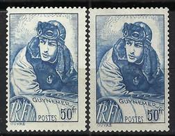 FRANCE 1940: Le Y&T 461 Neuf** Et Ses 2 états:  461a,461 - 1927-1959 Mint/hinged