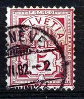 """HELVETIA - Mi 46 -  """"GENEVE"""" - Cote 120,00 € - (ref.3788) - Usati"""