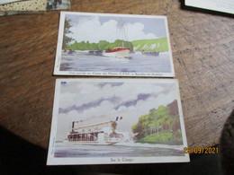Lot 2 Carte Bateau Sur Le Congo Et Camp Des Pilotins Bouales Les Andelys Ligue Maritime Et Coloniale - Andere
