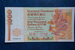 (TV) 1988 HONG KONG OLD ISSUE, STANDARD CHARTERED BANK 1000 DOLLARS #F348414 - Hong Kong