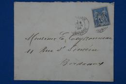 AB12  FRANCE  BELLE LETTRE   1898    BORDEAUX    + SAGE    +  AFFRANCH. INTERESSANT - 1876-1898 Sage (Type II)
