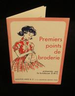 PREMIERS POINTS DE BRODERIE Présentés Par La Brodeuse D-M-C  Dollfus-Mieg & Cie 1950 MULHOUSE - Fashion