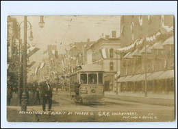 XX13117/ St. Toledo Ohio Decoration On Sunnit  Tramway Straßenbahn Foto AK 1908 - Non Classés