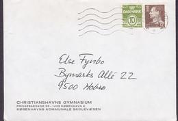 Denmark CHRISTIANSHAVNS GYMNASIUM Københavns Kommunale Skolevæsen ALBERTSLUND 1972 Cover Brief HOBRO - Brieven En Documenten