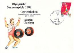 Korea Cover 1988 Seoul Olympic Games Weightlifting - German Martin Zawieja, Bronze Medal (DD30-28) - Summer 1988: Seoul