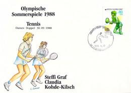 Korea Cover 1988 Seoul Olympic Games Tennis - German Women Team, Bronze Medal (DD30-28) - Summer 1988: Seoul