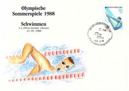 Korea Cover 1988 Seoul Olympic Games Swimming - German Team Men, Bronze Medal (DD30-28) - Summer 1988: Seoul