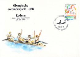 Korea Cover 1988 Seoul Olympic Games Rowing - German Men Team, Bronze Medal (DD30-28) - Summer 1988: Seoul