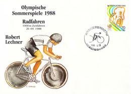 Korea Cover 1988 Seoul Olympic Games Cycling 1000 Meter - German Robert Lechner, Bronze Medal (DD30-28) - Summer 1988: Seoul
