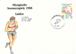 Korea Cover 1988 Seoul Olympic Games Athletics - German Men Team 4x400 M, Bronze Medal (DD30-28) - Summer 1988: Seoul