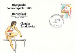 Korea Cover 1988 Seoul Olympic Games Athletics - German Claudia Zaczkiewicz, Bronze Medal (DD30-28) - Summer 1988: Seoul