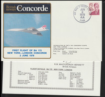 USA Concorde Flight Cover Posted John F Kennedy, New York First Flight Concorde BA172 New York - London 1978 (LD39) - Concorde