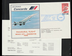 Mexico Concorde Flight Cover Posted Mexico First Flight Concorde Mexico - Washington - Paris 1978 (LD39) - Concorde