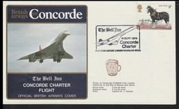 Great Britain Concorde Flight Cover Posted Hounslow Concorde Charter Flight From Heathrow To The Bay Of Biscay - Concorde