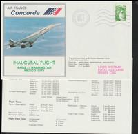 France Concorde Flight Cover Posted De Gaulle Airport First Flight Concorde Paris - Washington - Mexico 1978 (LD39) - Concorde