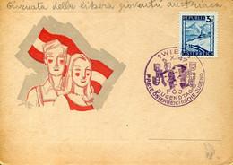 66488 Austria, Special Card And Postmark Wien 1947 Jugendtag Freie Osterreichische Jugend - 1945-60 Cartas