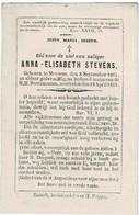 MEEUWEN - Anna STEVENS  - °1814 En +1869 - Images Religieuses
