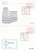 2 Scans Enveloppe Vignette D'affranchissement Relifil - Viñetas De Franqueo