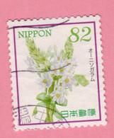 2017 GIAPPONE Fiori Flowers Ornithogalum - 82 Y Usato - Gebruikt