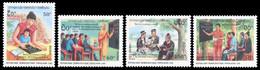 Laos 1990 - YT 949/952 ; Mi# 1189/92 MNH International Literacy Year - Laos