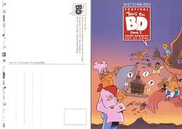 BORDIER : Carte Postale Pour Salon SAINT BEAUZIRE 2011 - Postcards