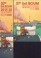 BRAVO SPIROU : Duo (carte + Marque Page)  Pour Salon BLOIS 2020 - Postcards