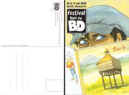 KRAEHN : Carte Postale Pour Salon SAINT BEAUZIRE 2014 - Postcards