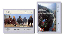 Nepal 2012 Elephant Football & Bungy Jumping - MNH ** - Népal