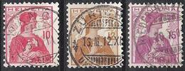 Schweiz Suisse Helvetia 1909: Zu 120-122 Mi 114-116 Yv 131-133 Serie Mit Voll-Stempel R (Zu CHF 3.00) - Used Stamps