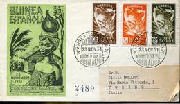 66493 Guinea Espanola, Fdc Circuled Registered 23.11.1951  Dia Del Sello Colonial - Guinea Espagnole