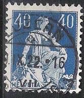 Schweiz Suisse Helvetia 1922: Zu 161 Mi 170 Yv 206 Mit Voll-Stempel LUZERN 8.X.22 (Zu CHF 0.50) - Used Stamps