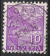 Schweiz Suisse 1936: Chillon (1934) Zu 196 Mi 272 Yv 273 Mit Voll-Stempel FLOND (GR) 12.VII.36 (Zumstein CHF 0.20) - Used Stamps