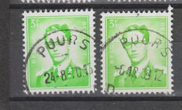 COB 1068 Oblitération Centrale PUURS - 1953-1972 Bril