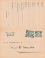 2 Scans Carte Entier Postal Poftkarte Bayern Bavière - Ganzsachen