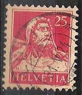 Schweiz Suisse 1924: Buste De Tell (1922) Zu 158 Mi 166 Yv 202 Mit Voll-Stempel  LUVIS 31.V.24 (Zumstein CHF 1.00) - Used Stamps