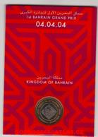 1.st BAHRAIN GRAND PRIX 100 Fils 04.04.04 ,, 2004 , Nice Folder - Bahrein