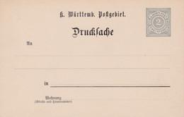 Carte Entier Postal Wûrttemberg Wurtemberg - Ganzsachen
