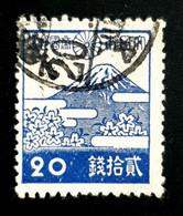 1942-1944 Local Motifs, 20S, Japan, Nippon, Used - Gebruikt