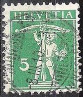 Schweiz Suisse 1910: Fils De Tell-Knabe (1909) Zu 119 Mi 113 I Yv 130 Mit Voll-Stempel BASEL 8.III.10 (Zumstein CHF .50) - Used Stamps